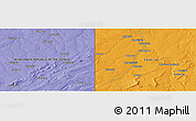 "Political Panoramic Map of the area around 12° 53' 15"" S, 29° 49' 30"" E"