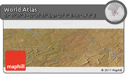 "Satellite Panoramic Map of the Area around 12°53'15""S,29°49'30""E"