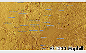 """Physical 3D Map of the area around 12°53'15""""S,30°40'29""""E"""