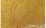 """Physical Map of the area around 12°53'15""""S,30°40'29""""E"""
