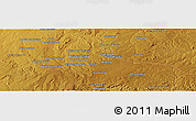 "Physical Panoramic Map of the area around 12° 53' 15"" S, 30° 40' 29"" E"