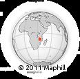 Outline Map of Metangula, rectangular outline