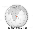 Outline Map of Muembe, rectangular outline