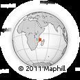 Outline Map of Pemba, rectangular outline