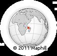"Outline Map of the Area around 12° 53' 15"" S, 43° 25' 29"" E, rectangular outline"