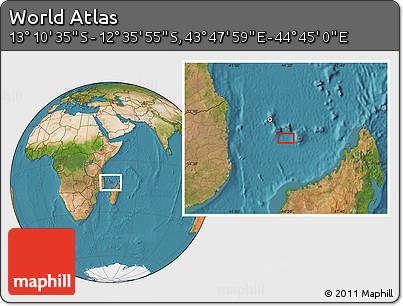 "Satellite Location Map of the Area around 12°53'15""S,44°16'29""E"