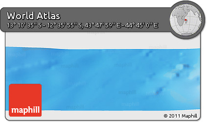 """Physical Panoramic Map of the Area around 12°53'15""""S,44°16'29""""E"""