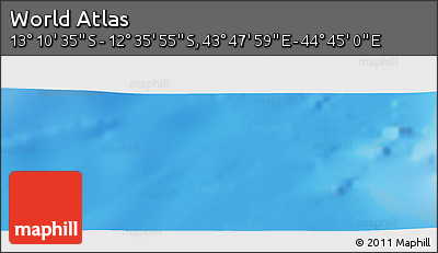 """Shaded Relief Panoramic Map of the Area around 12°53'15""""S,44°16'29""""E"""