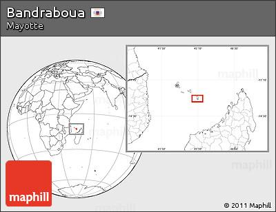 Blank Location Map of Bandraboua