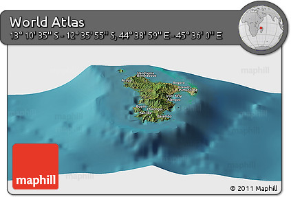 "Satellite Panoramic Map of the Area around 12°53'15""S,45°7'30""E"