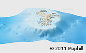 Shaded Relief Panoramic Map of Acoua