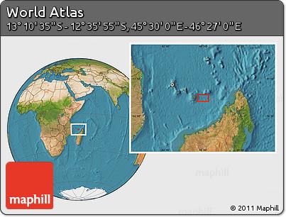 "Satellite Location Map of the Area around 12°53'15""S,45°58'30""E"