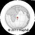 "Outline Map of the Area around 12° 53' 15"" S, 46° 49' 30"" E, rectangular outline"