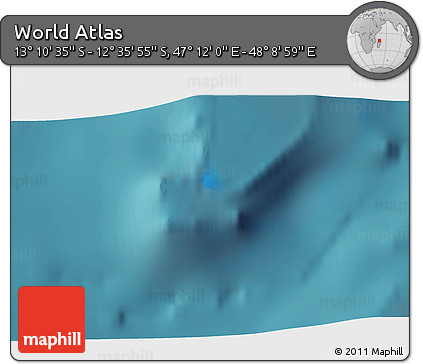 """Satellite 3D Map of the Area around 12°53'15""""S,47°40'29""""E"""