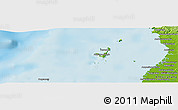 """Physical Panoramic Map of the area around 12°53'15""""S,48°31'29""""E"""