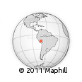 Outline Map of Machu Picchu, rectangular outline