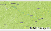 Physical 3D Map of Tanbwanga