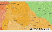 Political 3D Map of Bombanyenga