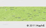 Physical Panoramic Map of Tanbwanga