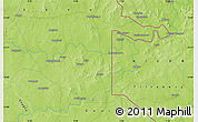 """Physical Map of the area around 13°13'56""""N,0°55'29""""E"""