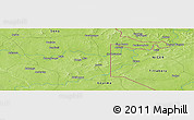 """Physical Panoramic Map of the area around 13°13'56""""N,0°55'29""""E"""