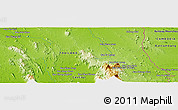 """Physical Panoramic Map of the area around 13°13'56""""N,102°4'29""""E"""
