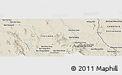 """Shaded Relief Panoramic Map of the area around 13°13'56""""N,102°4'29""""E"""
