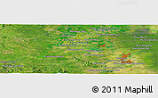 Satellite Panoramic Map of Phumĭ Băt Kông