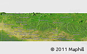 Satellite Panoramic Map of Phumĭ Bœ̆ng Méaléa