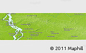 "Physical Panoramic Map of the area around 13° 13' 56"" N, 106° 19' 29"" E"