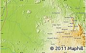 Physical Map of Ban Cha Ma