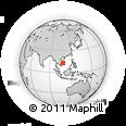 Outline Map of Ban Sô Mahang, rectangular outline