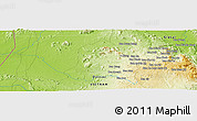 Physical Panoramic Map of Ban Cha Ma