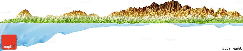Physical Horizon Map of Santa Cruz