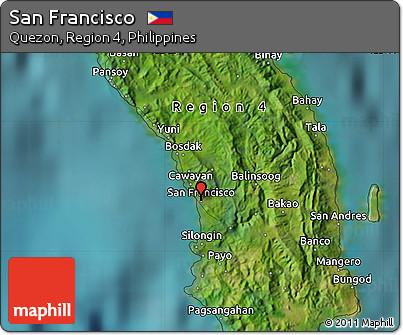 Free Satellite Map of San Francisco