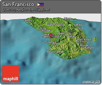 Free Satellite Panoramic Map of San Francisco