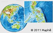 Physical Location Map of Iriga