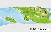 Physical Panoramic Map of Iriga