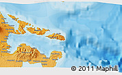 """Political 3D Map of the area around 13°13'56""""N,124°10'30""""E"""