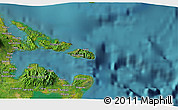 """Satellite 3D Map of the area around 13°13'56""""N,124°10'30""""E"""