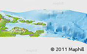 """Physical Panoramic Map of the area around 13°13'56""""N,124°10'30""""E"""