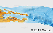 """Political Panoramic Map of the area around 13°13'56""""N,124°10'30""""E"""