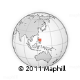 """Outline Map of the Area around 13° 13' 56"""" N, 125° 1' 30"""" E, rectangular outline"""