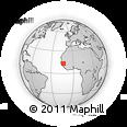 Outline Map of Medina Gonasse, rectangular outline
