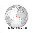 Outline Map of the Gambia, rectangular outline