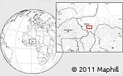 Blank Location Map of Kollo