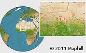 Satellite Location Map of Kollo