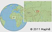 Savanna Style Location Map of Kollo