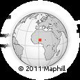 Outline Map of Kollo, rectangular outline