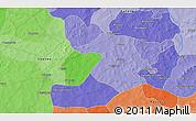 Political 3D Map of Boaré